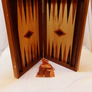 Handmade Wooden Board Backgammon with Trays - solivewood.com