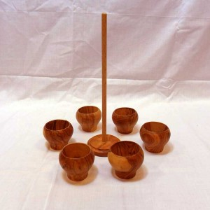Handmade Wooden Egg Cups Set - solivewood.com