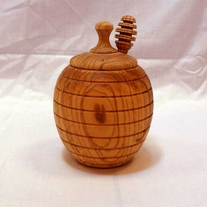 Handmade Wooden Honeypot - solivewood.com