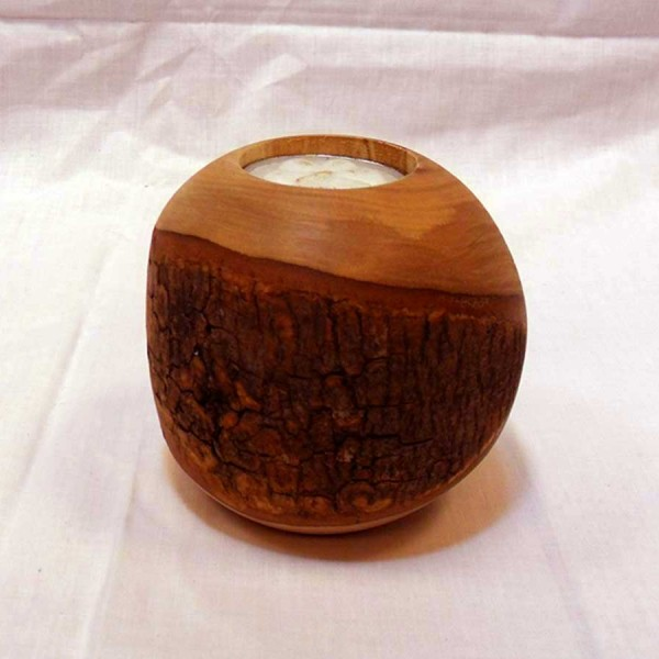 Handmade Wooden Rustic Candle Ball -  solivewood.com