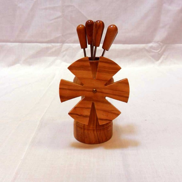 Handmade Wooden Windmill with Picks -  solivewood.com